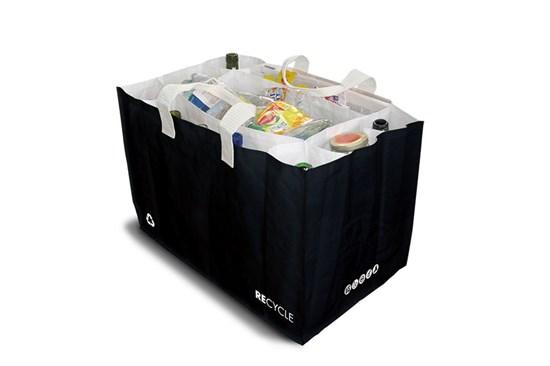 Taška na triedenie odpadu Sakatri - čierna