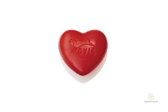 Mydlo červené srdce