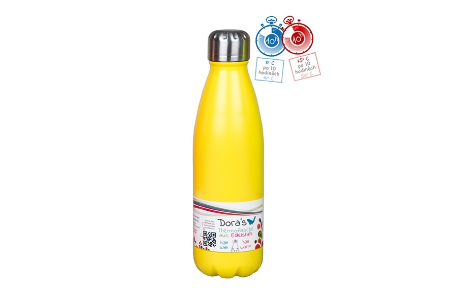 Termofľaša Biodora 500ml žltá Príjemné veci - domácnosť bez odpadu ... b483a366af9