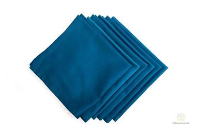 Obrázok pre výrobcu Saténové vreckovky z biobavlny - pánske - modré-6ks