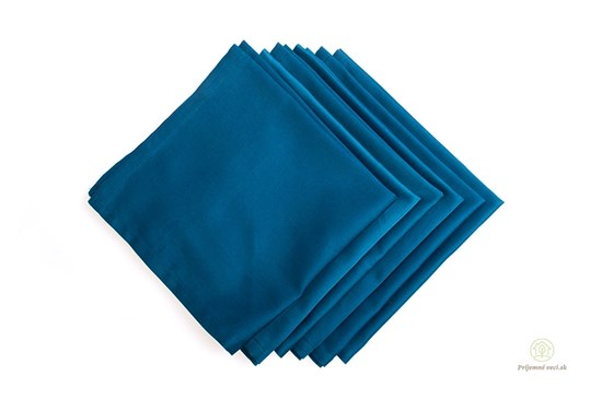 Saténové vreckovky z biobavlny pánske - modré-6ks