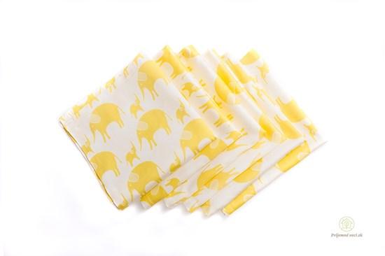 Saténové vreckovky z biobavlny - detské-6ks