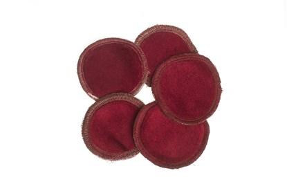 Obrázok pre výrobcu Látkové odličovacie tampóny - bordové - 5ks