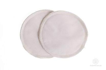 Obrázok pre výrobcu Látkové vložky do podprsenky biele - biobavlna - 2ks
