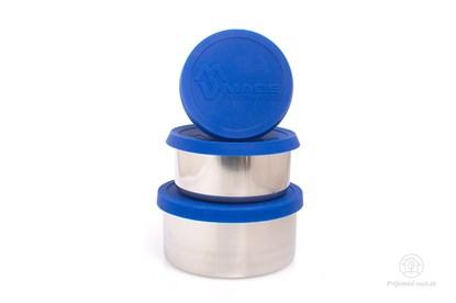 Obrázok pre výrobcu Nerezové dózy na jedlo - modré (3ks)