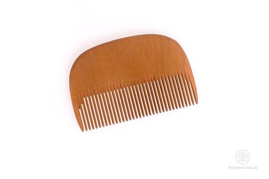 Drevený hrebeň na bradu - hustý