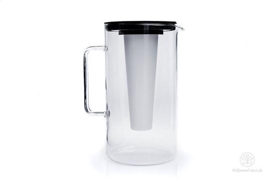 Sklenený džbán s vložkou na ľad - 2,5l