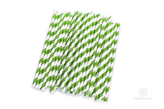 Papierová slamka - zelená (600 ks)