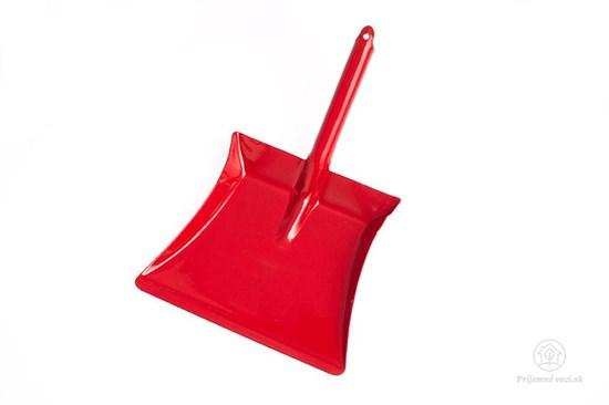 Lopatka na smeti - červená mini
