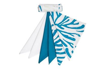 Obrázok pre výrobcu Saténové vreckovky z biobavlny - pánske - mix modré - 6ks