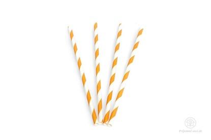Obrázok pre výrobcu Papierová slamka - oranžová (600 ks)