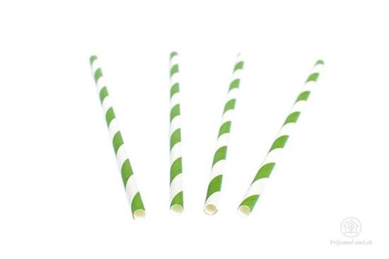 Papierová slamka - zelená (40 ks)