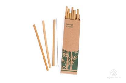 Obrázok pre výrobcu Bambusové slamky -10ks s kefkou