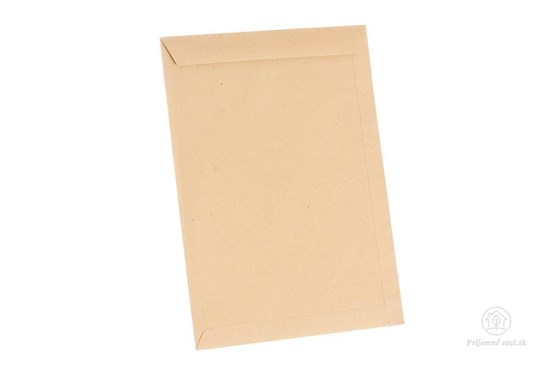 Obálky z hnedého recyklovaného papiera - C4 -10ks