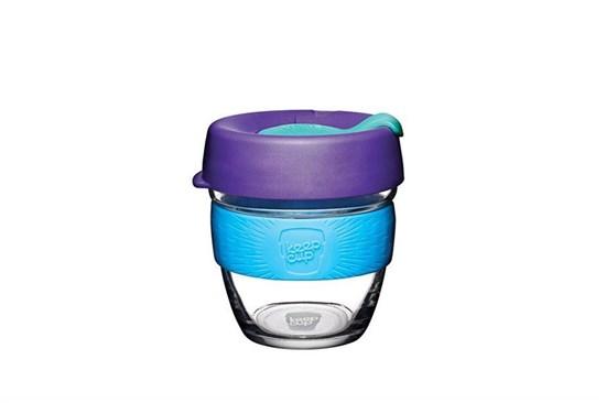 KeepCup S - fialový s modrým úchytom