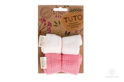 Obrázok pre výrobcu Sieťové vrecká na potraviny TUTO - ružovo-biele