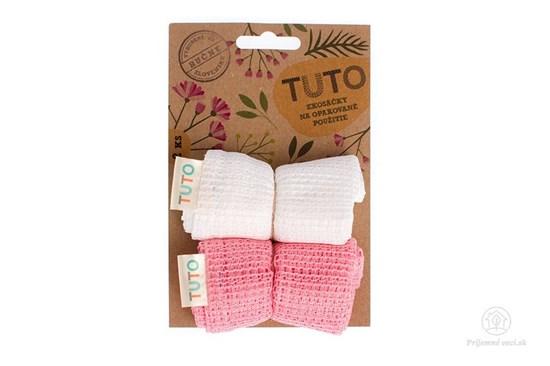 Sieťové vrecká na potraviny TUTO - ružovo-biele