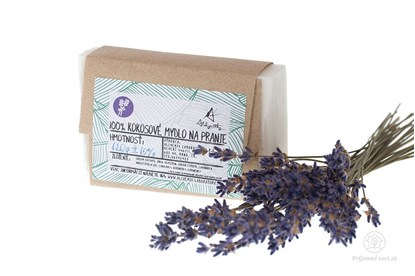 Obrázok pre výrobcu Kokosové mydlo na pranie levanduľa - tuhé