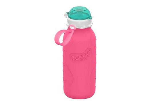 Silikónová fľaša ružová - 480ml