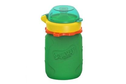 Obrázok pre výrobcu Silikónová kapsička na príkrmy zelená - 104ml