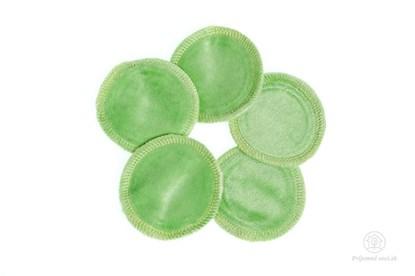 Obrázok pre výrobcu Látkové odličovacie tampóny - bledozelené - 5ks