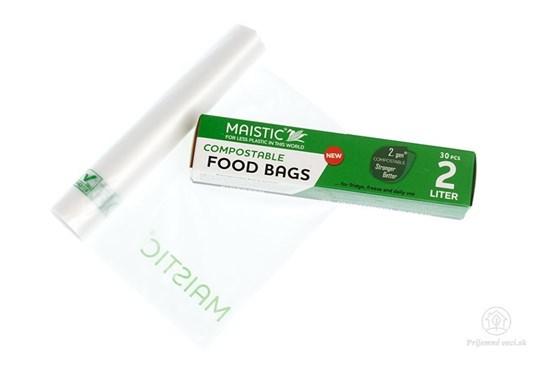 Kompostovateľné vrecká na potraviny 2l (30ks)