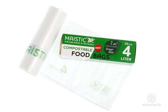 Kompostovateľné vrecká na potraviny 4l (20ks)