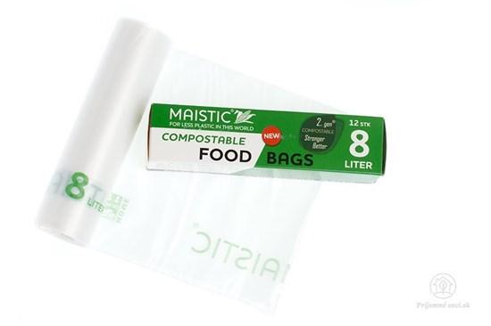 Kompostovateľné vrecká na potraviny 8l (12ks)