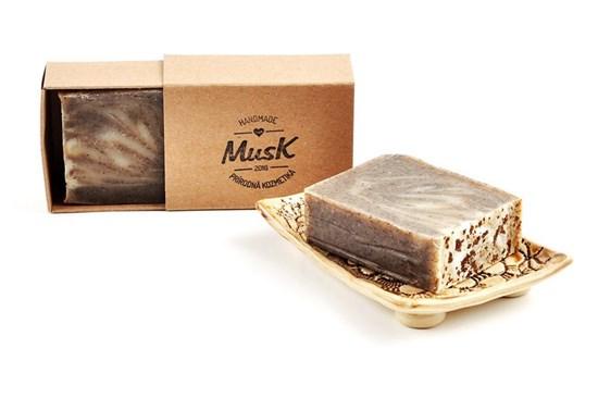 Mydlo Musk - so zrnkami kávy