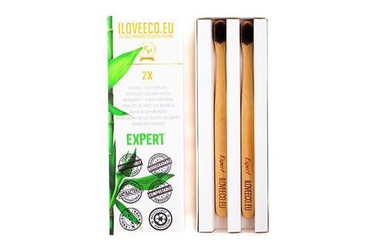 Bambusová zubná kefka dvojbalenie - Expert