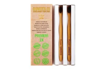 Obrázok pre výrobcu Bambusová zubná kefka dvojbalenie - Premium