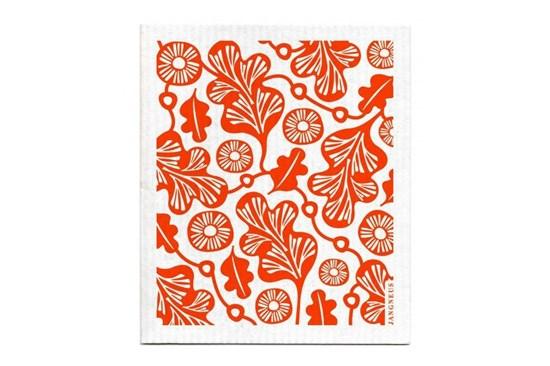 Hubka - dubový list - oranžový