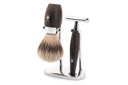 Obrázok pre výrobcu Set na holenie - strieborný jazvec a močiarny dub