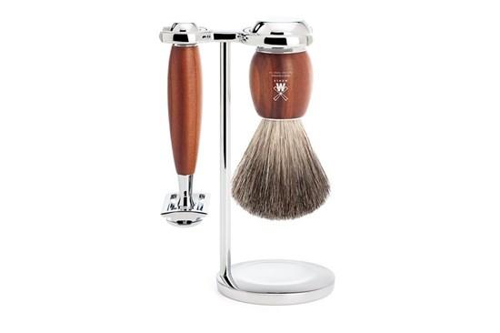 Set na holenie - jazvec a slivkové drevo