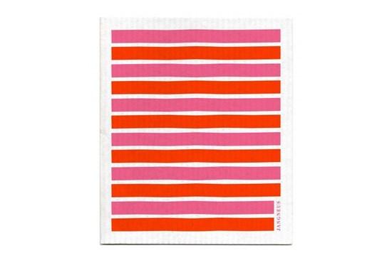 Hubka - pásiky oranžovo-ružové