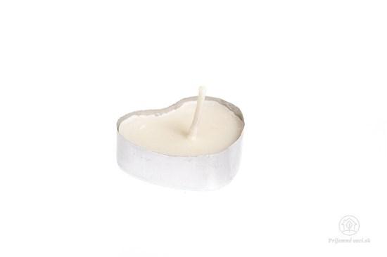 Čajová sviečka zo sójového vosku - srdiečko