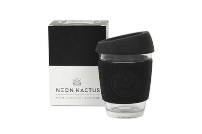 """Obrázok pre výrobcu Sklenený pohár na kávu """"to go"""" - čierny"""