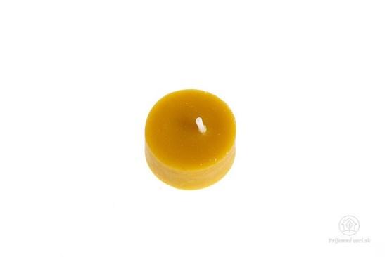 Čajové sviečky z včelieho vosku - bez obalu (10ks)