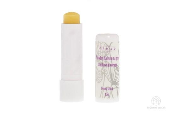Balzam na pery s makovým olejom - bez vône