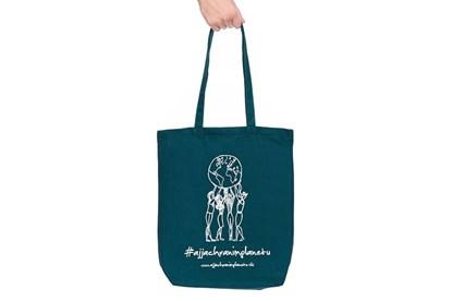 """Obrázok pre výrobcu Látková taška """"Aj ja chránim planétu"""" tmavozelená"""