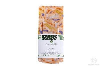 Obrázok pre výrobcu Vegan voskované obrúsky -rastlinky set (3ks)