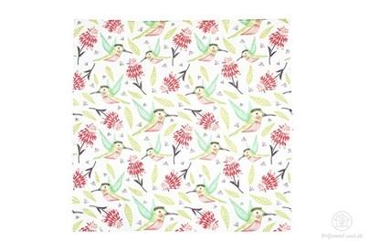 Obrázok pre výrobcu Vegan voskovaný obrúsok stredný - kolibrík