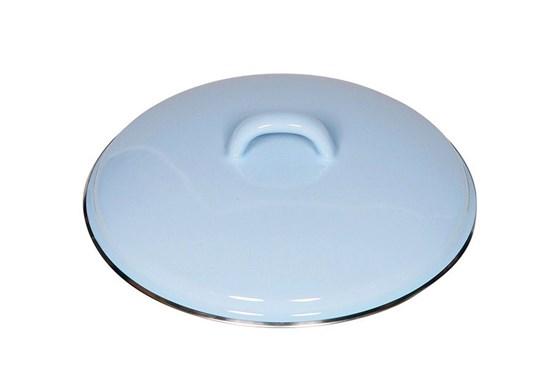 Smaltovaná pokrievka - 18cm - modrá