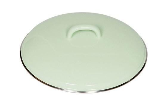 Smaltovaná pokrievka - 22cm - zelená