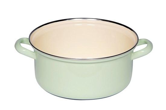 Smaltovaný hrniec nízky - 3L - zelený