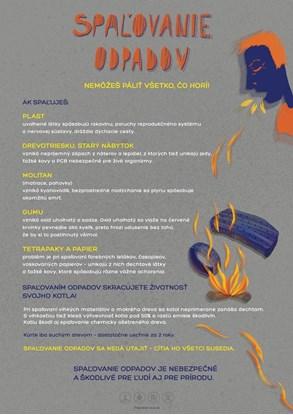 Obrázok pre výrobcu Edukačný plagát veľký (A2) - spaľovanie