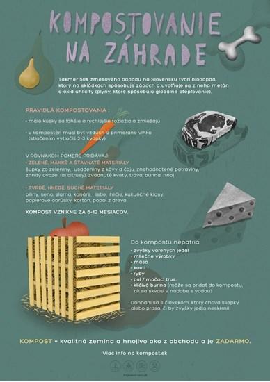 Edukačný plagát malý (A3) - kompostovanie