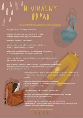 Obrázok pre výrobcu Edukačný plagát malý (A3) - miminalizácia odpadu