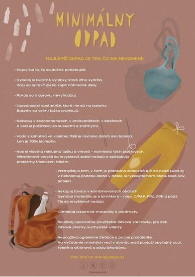 Edukačný plagát malý (A3) - miminalizácia odpadu