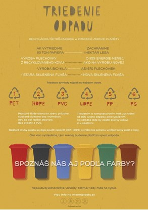 Obrázok pre výrobcu Edukačný plagát malý (A3) - triedenie odpadu